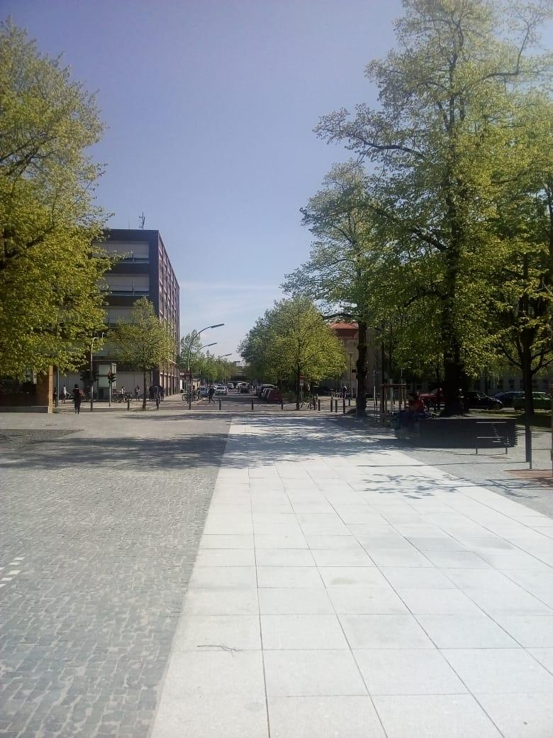 Hertzallee in Richtung Ernst-Reuter-Platz verlängert